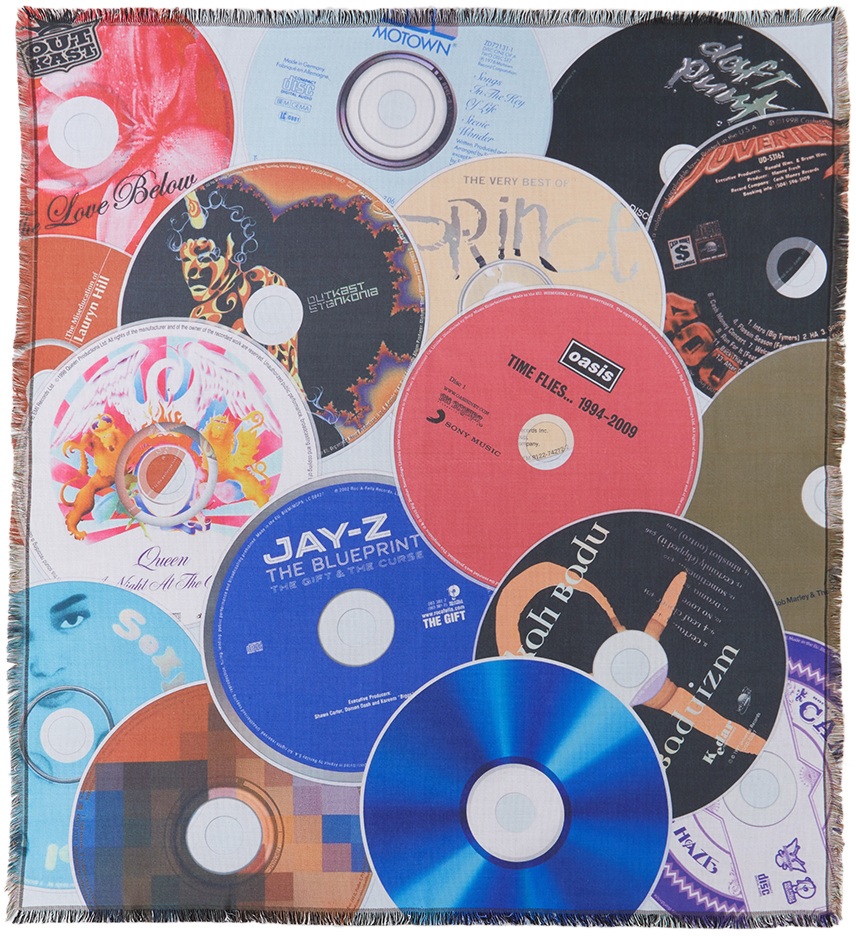 Multicolor Greatest Albums Of All Time Throw Blanket
