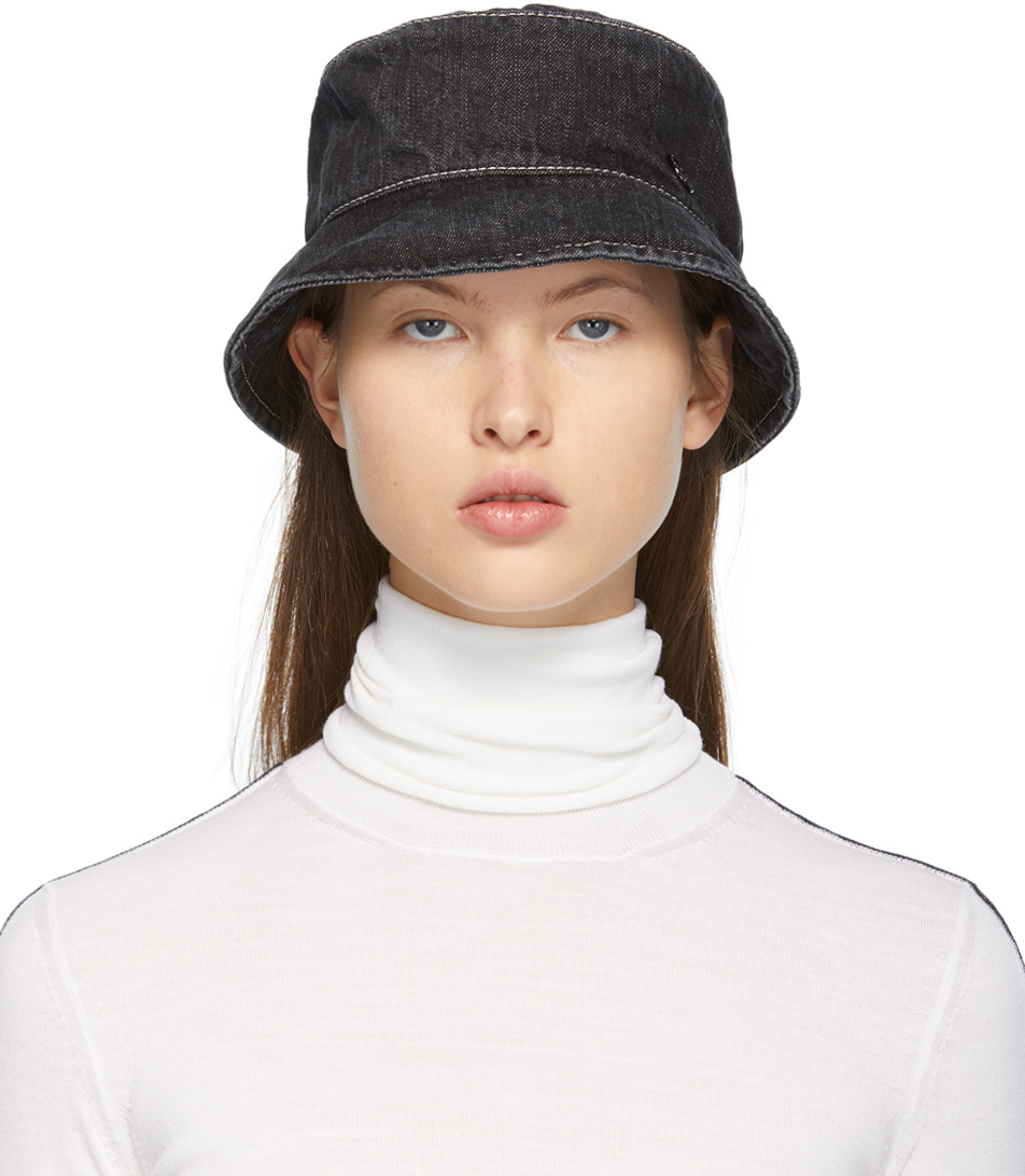 Black Denim Axel Bucket Hat