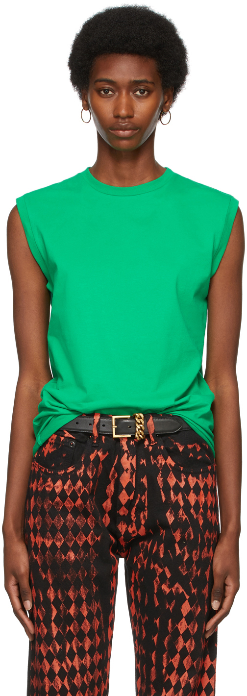 Green Logo Tank Top T-Shirt