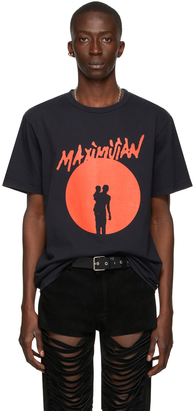 Black J'Ouvert Print T-Shirt