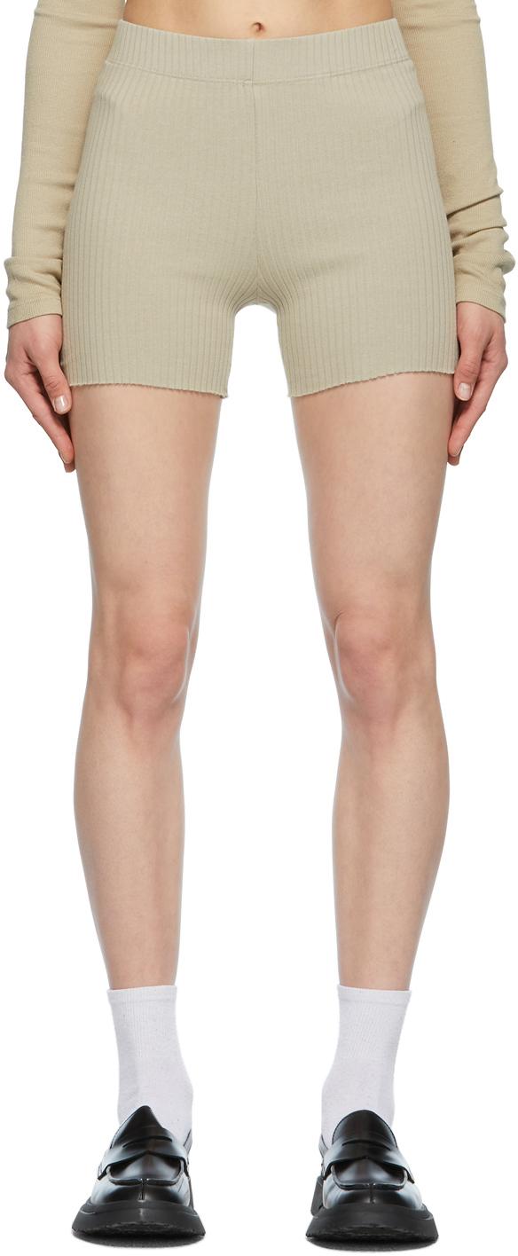 Beige Ibiza Biker Shorts