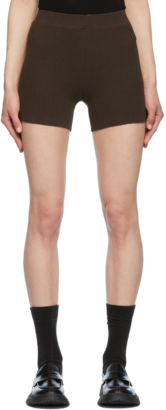 Brown Ibiza Biker Shorts