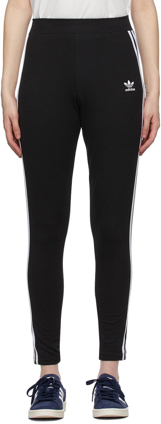 Black & White Adicolor 3-Stripes Leggings