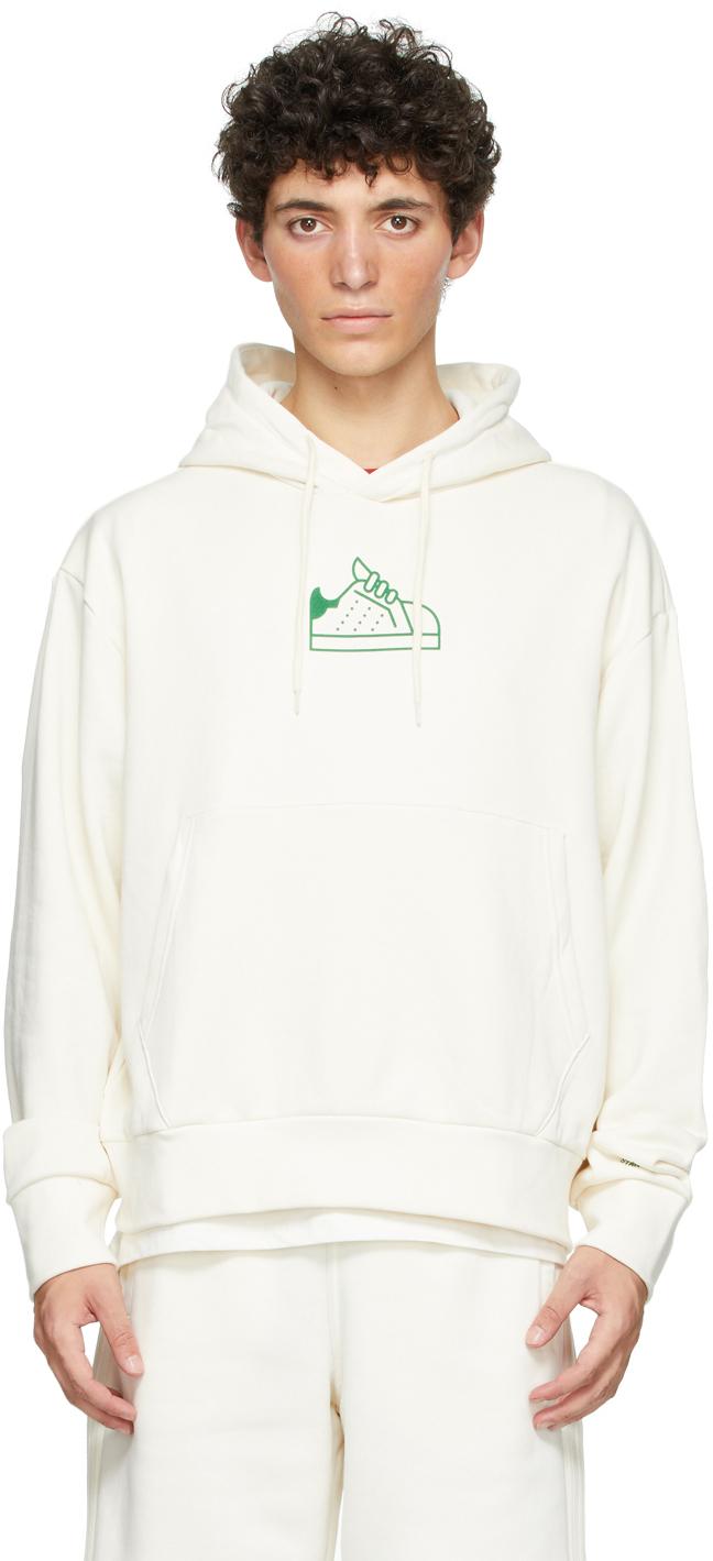 adidas Originals 灰白色 Stan Smith 有机棉连帽衫