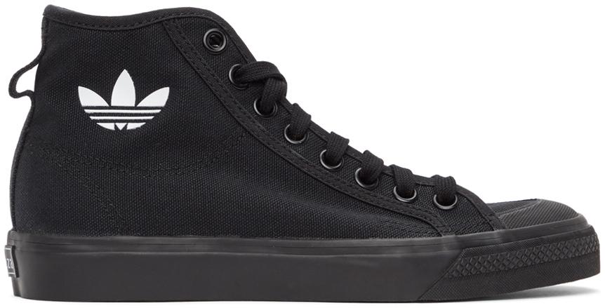 adidas Originals 黑色 Nizza Hi 高帮运动鞋