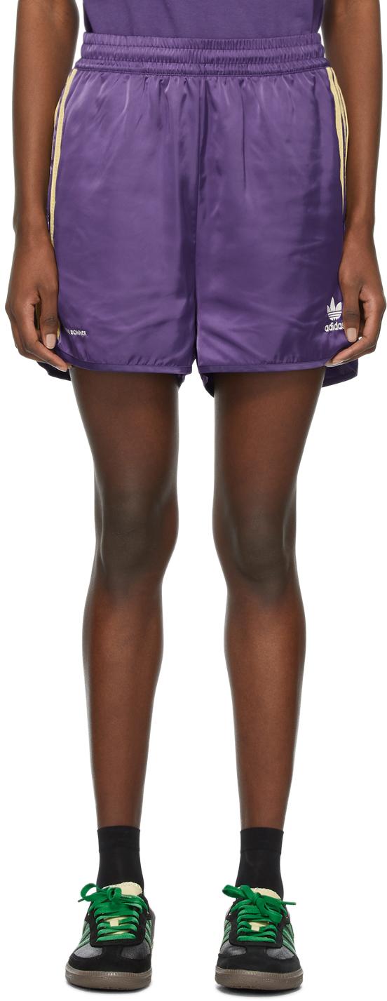 Wales Bonner 紫色 Adidas 联名运动短裤