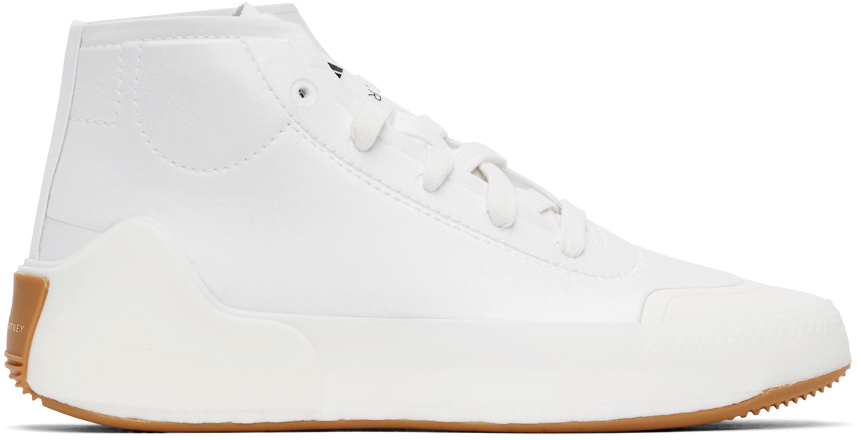 adidas by Stella McCartney ホワイト Treino ミッドカット スニーカー