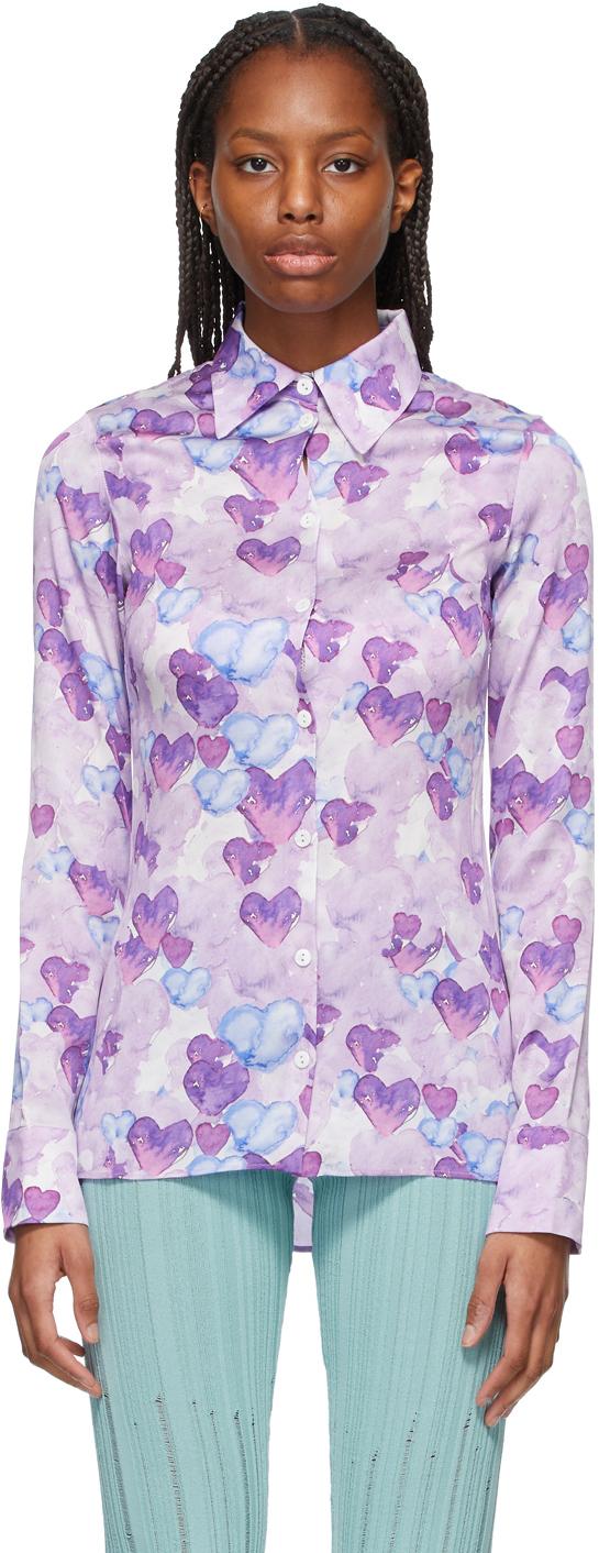 Purple & Blue Heart Shirt