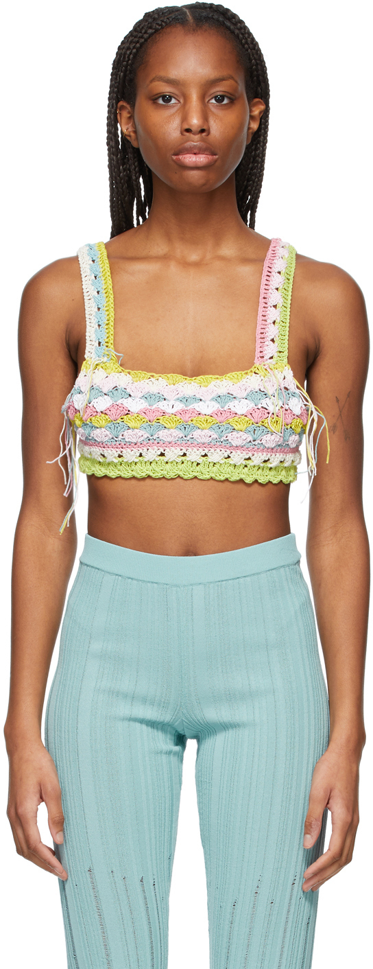 Multicolor Crochet Bra Tank Top