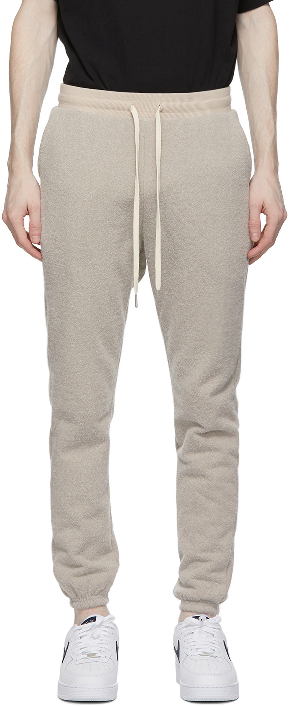 Beige Fur Terry LA Lounge Pants