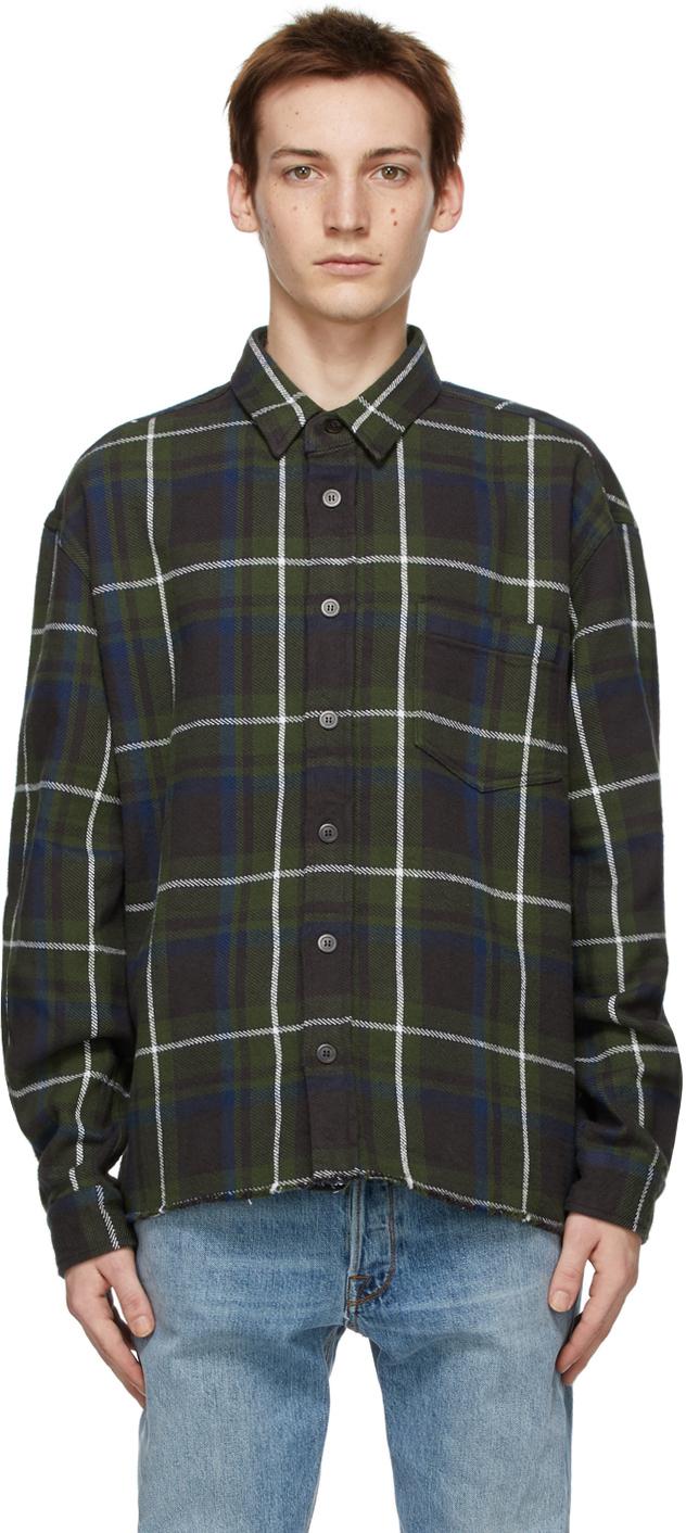 Green Check Hemi Oversized Shirt