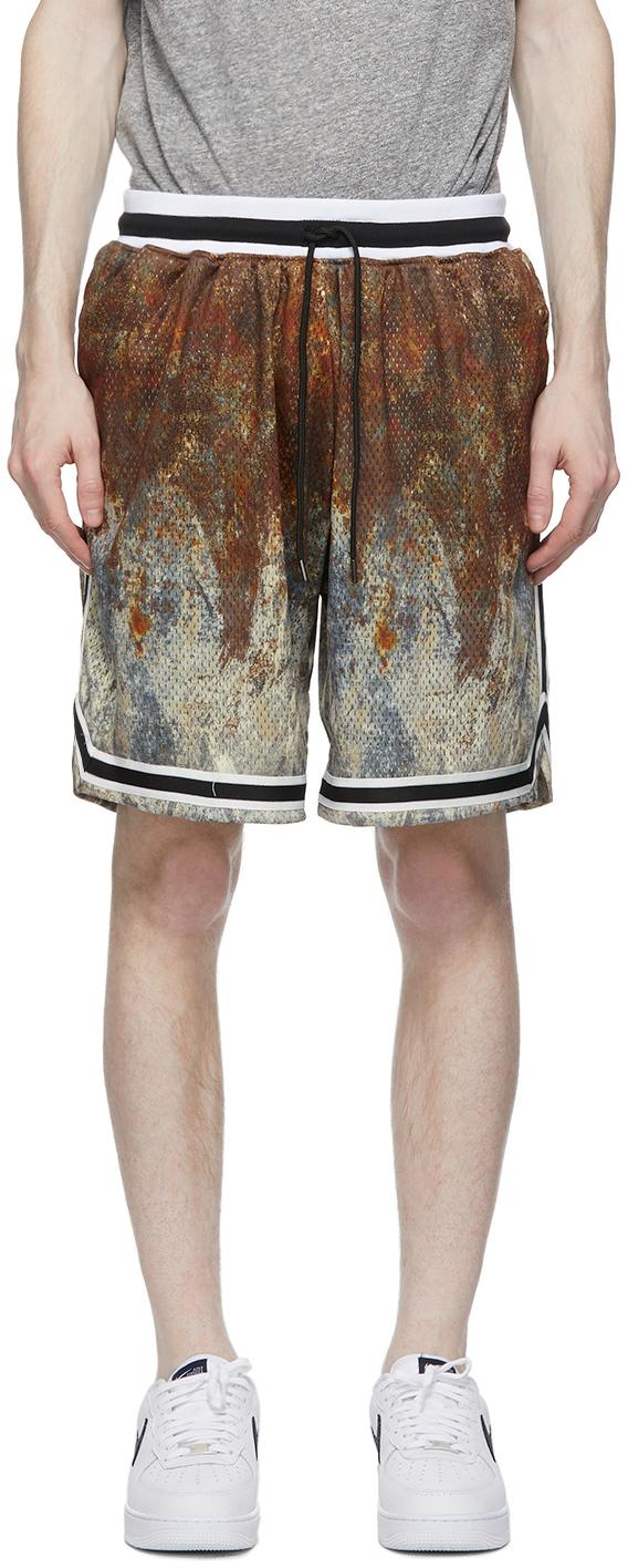 Brown & Grey Crash Game Shorts