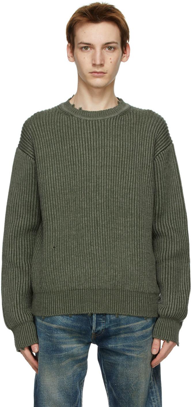 Khaki Wool Structure Sweater