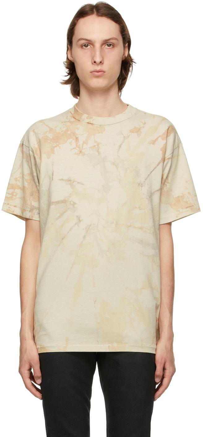 Beige Tie-Dye University T-Shirt