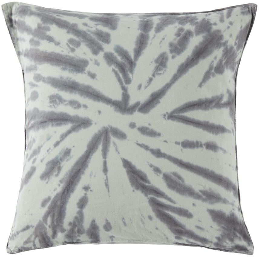 Blue Down Tie-Dye Throw Pillow