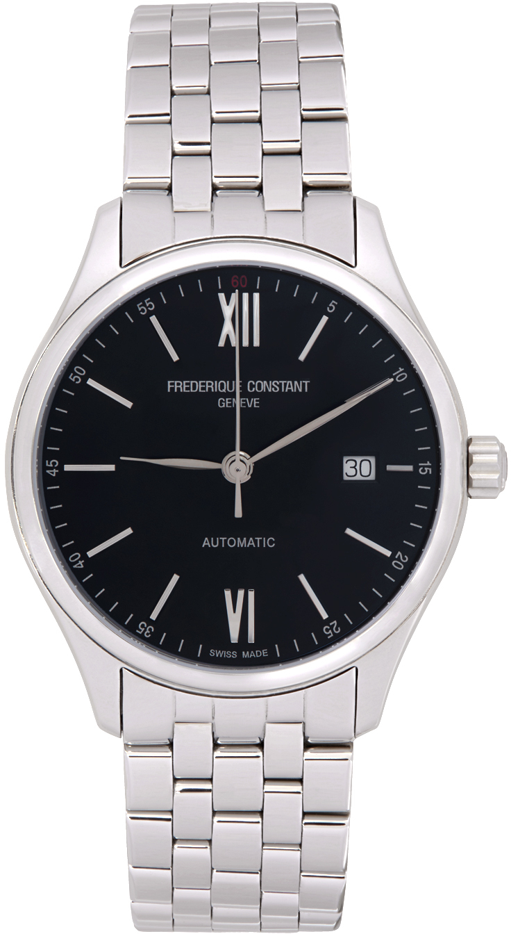Silver & Black Classics Index Automatic Watch