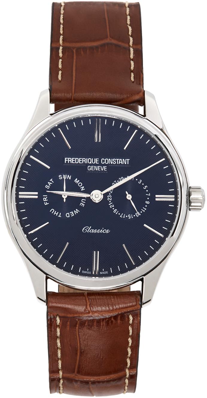 Frédérique Constant Silver & Brown Classics Gents Quartz Watch