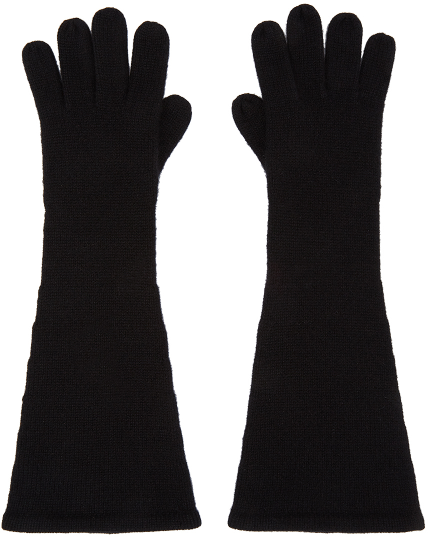 Black Cashmere Gloves