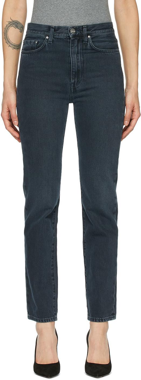 Totême 黑色 Regular Fit 牛仔裤