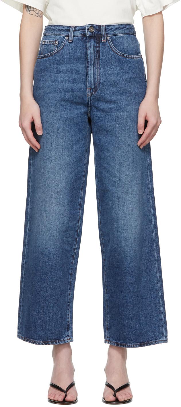 Totême 蓝色 Flare Fit 牛仔裤