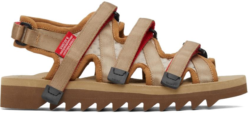Suicoke 黄褐色 ZIP-3 凉鞋