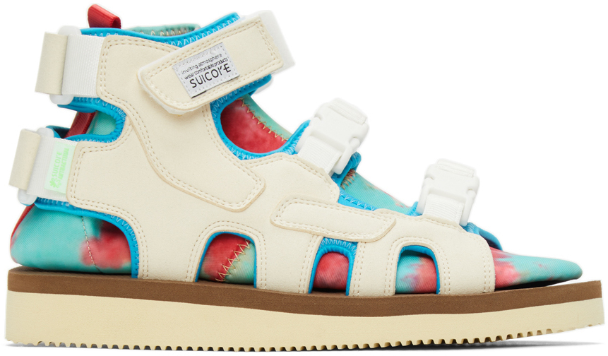 Suicoke 灰白色 & 蓝色 BOAK-2AB 凉鞋