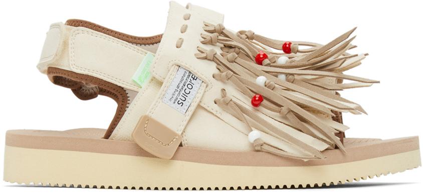 Suicoke 米色 & 驼色 WAS-4AB 凉鞋