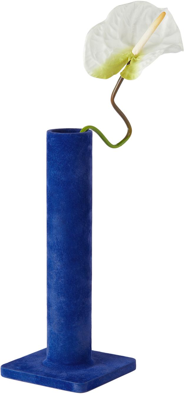 ブルー Bead フラワーベース 33 cm