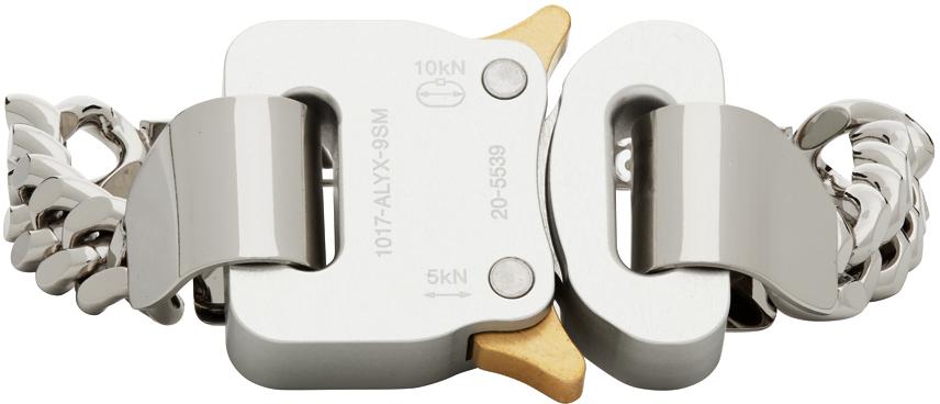 1017 ALYX 9SM Silver Buckle Bracelet 211776F020064