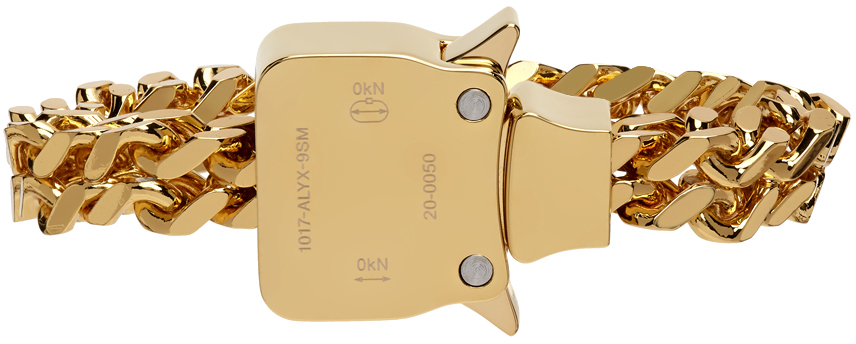 1017 ALYX 9SM Gold Mini Cubix Bracelet 211776F020065