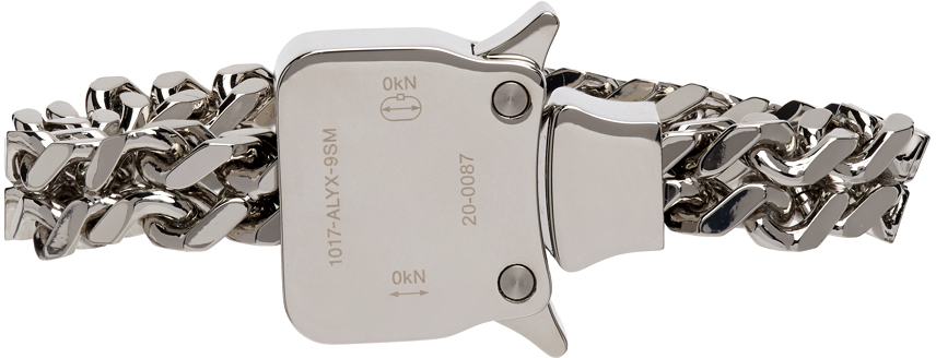 1017 ALYX 9SM Silver Mini Cubix Bracelet 211776F020066