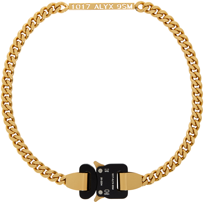 1017 ALYX 9SM Gold Buckle Necklace 211776F023058