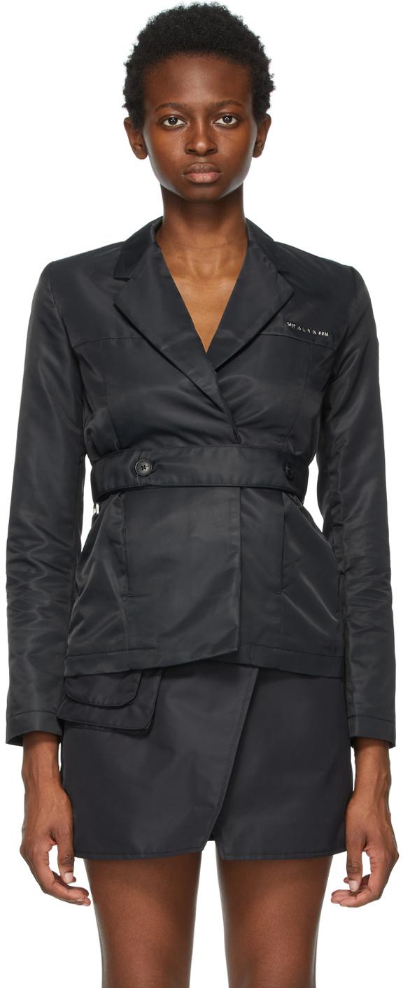 1017 ALYX 9SM Black Nylon Belted Blazer 211776F057027
