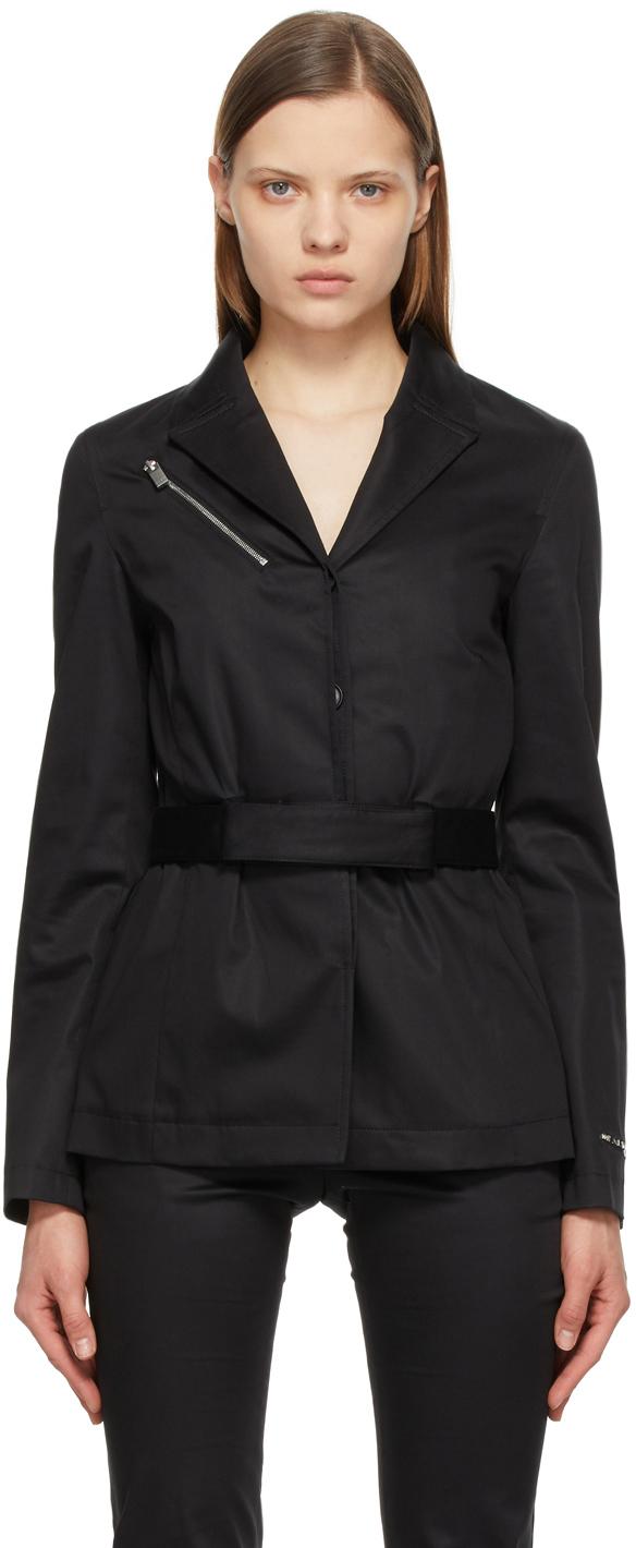 1017 ALYX 9SM Black Twill Belted Blazer 211776F057028