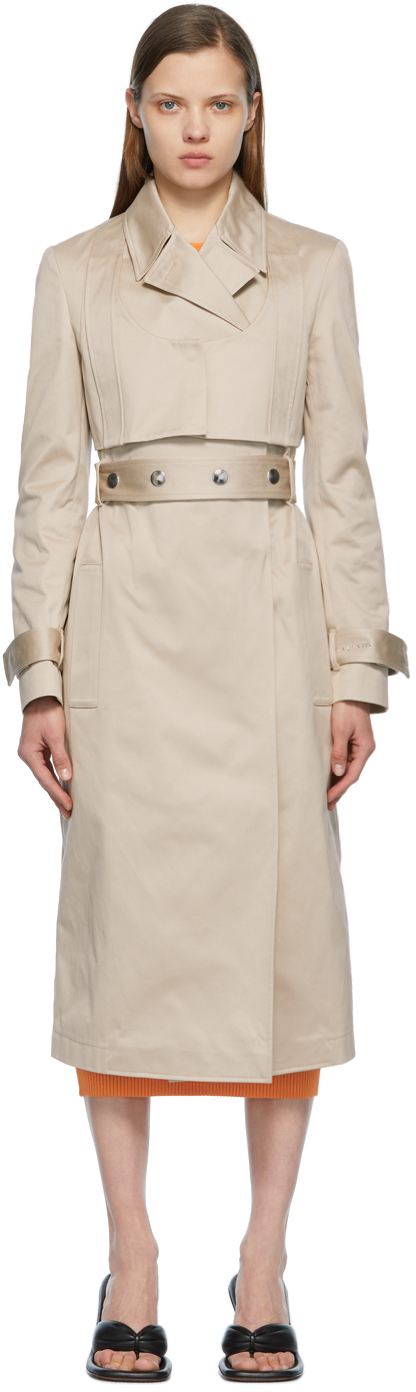 1017 ALYX 9SM Beige Double Breasted Trench Coat 211776F067000