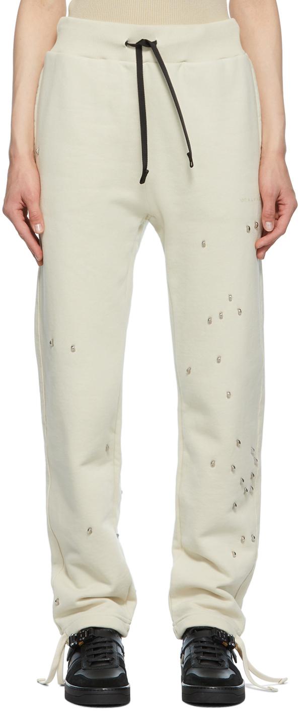 1017 ALYX 9SM Beige Studded Double Logo Lounge Pants 211776F086025