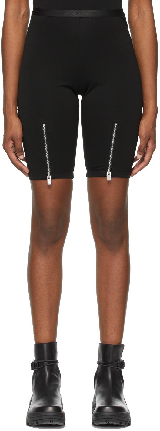 1017 ALYX 9SM Black Zippered Biker Shorts 211776F088023