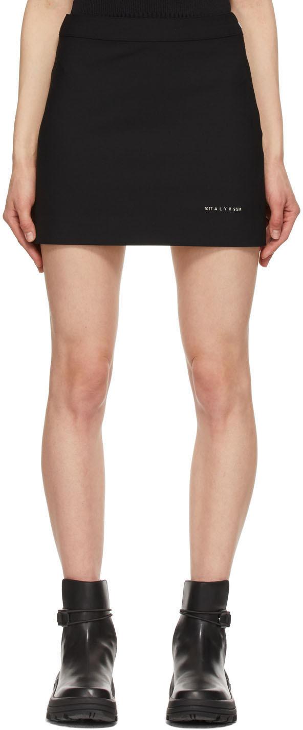 1017 ALYX 9SM Black Stylo Miniskirt 211776F090048