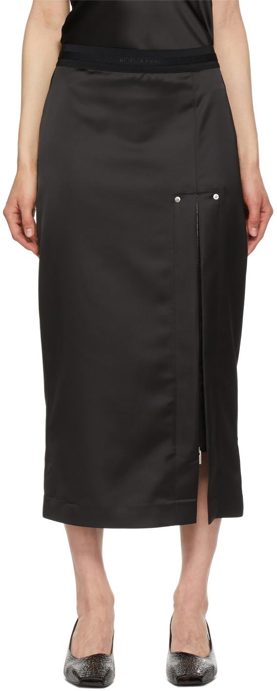 1017 ALYX 9SM Black Satin Skirt 211776F092000