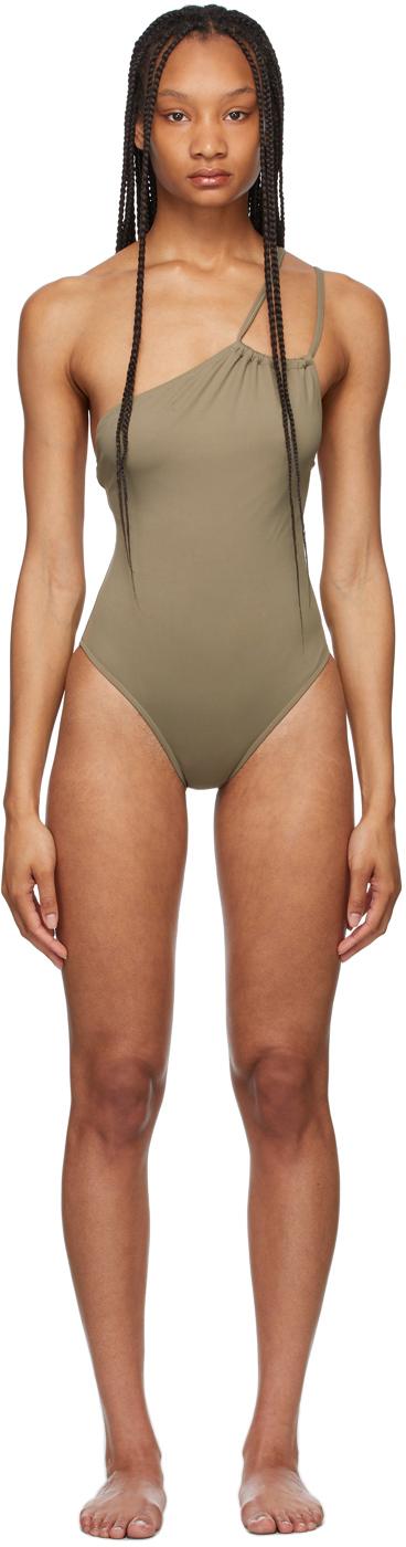 Grey Ferret One-Piece Swimsuit