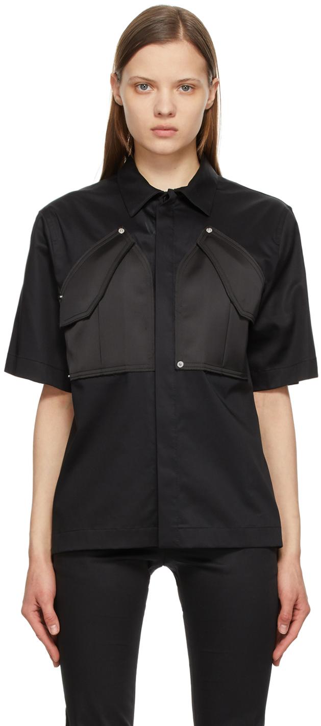 1017 ALYX 9SM Black Cargo Short Sleeve Shirt 211776F109024