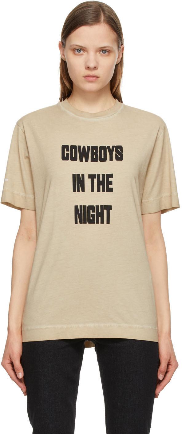 1017 ALYX 9SM Beige Cowboys In The Night T Shirt 211776F110033