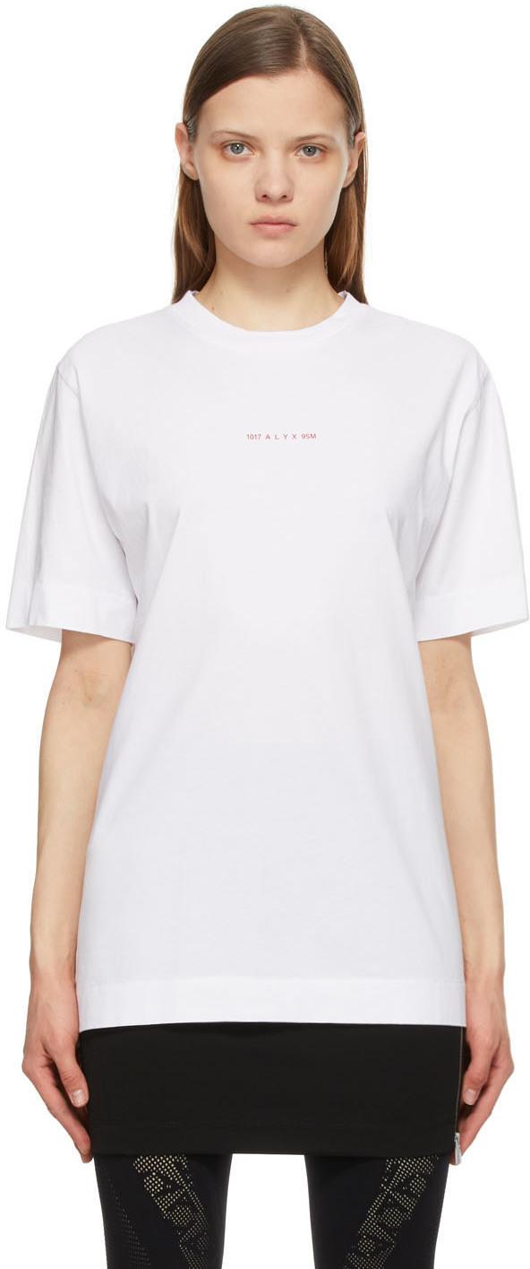 1017 ALYX 9SM White Change Of Heart T Shirt 211776F110035