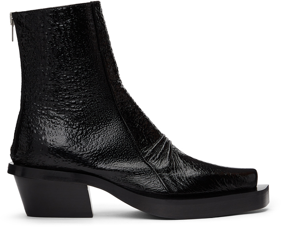 1017 ALYX 9SM Black Toad Leone Boots 211776F113027