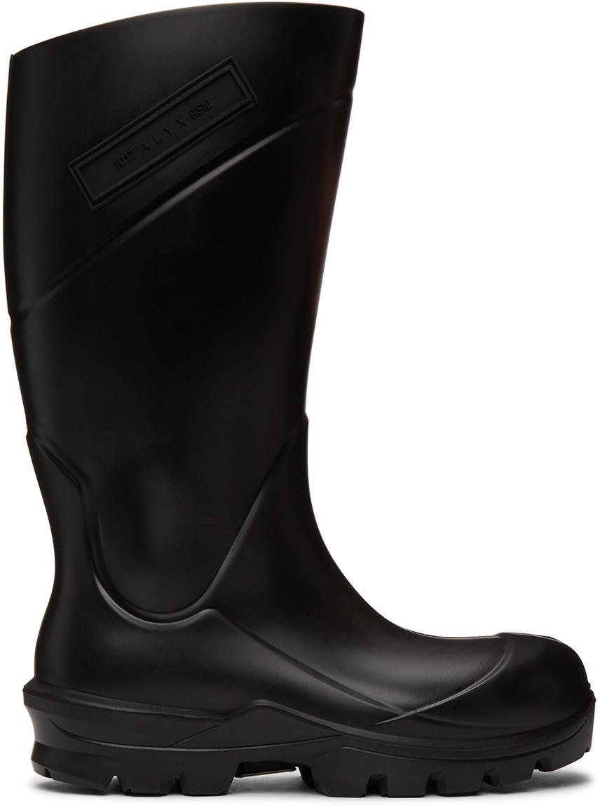 1017 ALYX 9SM Black Logo Rain Boots 211776F114083
