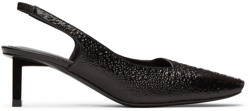 1017 ALYX 9SM Black Betta Slingback Heels 211776F122025
