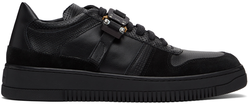 1017 ALYX 9SM Black Leather Buckle Sneakers 211776F128029