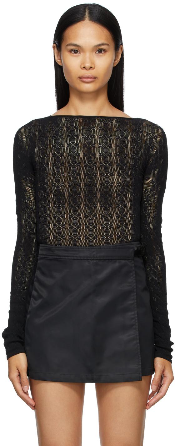 1017 ALYX 9SM Black A Knit Bodysuit 211776F284028