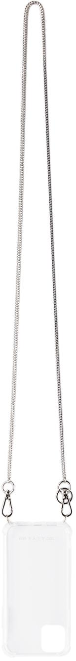1017 ALYX 9SM Transparent Cubix Chain iPhone 11 Case 211776M000204
