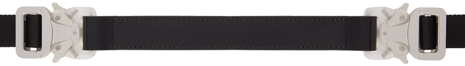 1017 ALYX 9SM Black Medium Mixed Double Buckle Rollercoaster Belt 211776M131006